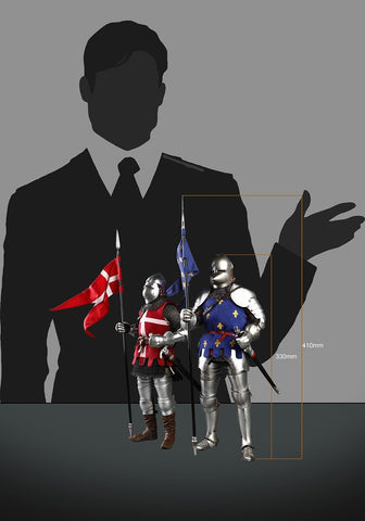 Image of (COOMODEL) (Pre-Order) SE070 1/6 SERIES OF EMPIRES (DIE-CAST ALLOY) - KNIGHTS OF SAINT MICHEL (DOUBLE-FIGURE SET OF FRENCH KNIGHTS) - Deposit Only