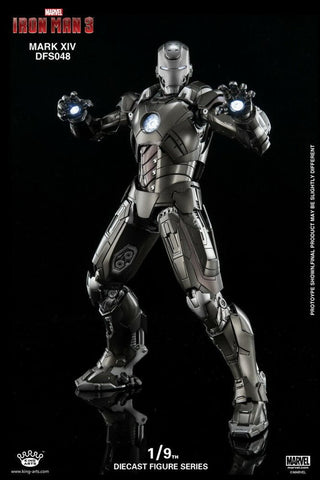 (King Arts) (Pre-Order) Iron Man Mark 14 - 1/9 Scale Diecast Figure DFS048 - Deposit Only