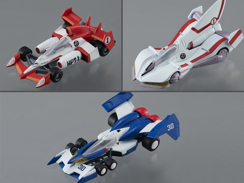 (MegaHouse) (Pre-Order) VARIABLE ACTION KIT FUTURE GPX CYBER FORMULA SET - Deposit Only