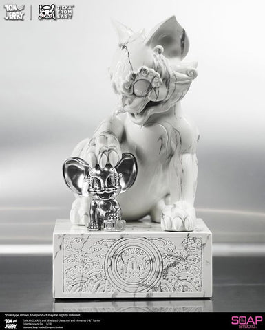 Image of (Soap Studio) Tom and Jerry White Mable Limited Edition (Artist: Tik Ka From East) (Pre-Orders) - Deposit Only