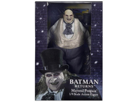 (Neca) (Pre-Order) Batman Returns - 1/4th Scale Action Figures - Catwoman (Pfeiffer)/Mayoral Penguin (Devito)/Batman (Keaton) - Deposit Only