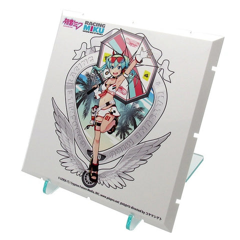 Image of (Good Smile Company) (Pre-Order) Dioramansion 150: Racing Miku Pit 2020 Optional Panel Tropical Ver. - Deposit Only