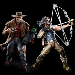 (Hasbro) Marvel Legends Fox X-Men Old Man Logan & Hawkeye 2 Pack 6 Inch Action Figure