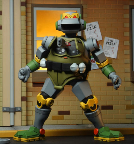 (NECA) Teenage Mutant Ninja Turtles – 7 Scale Action Figure – Cartoon Metalhead Ultimate Figure