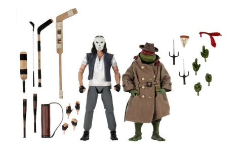 "(NECA)) Teenage Mutant Ninja Turtles – 7"" Scale Action Figure – Casey Jones & Raphael in Disguise 2 pack"