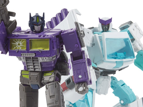 Image of (Hasbro) Transformers Generations Selects Shattered Glass Optimus Prime & Ratchet Two-Pack