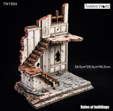 Image of (TWTOYS) 1/12 TW1924 ruins of building Scene Platform