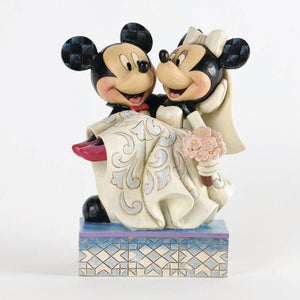 "(Enesco) Mickey & Minnie Wedding ""Congratulations"""