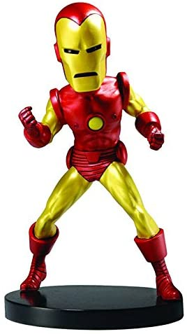 Image of NECA Marvel Classic Head Knocker Iron Man Toy