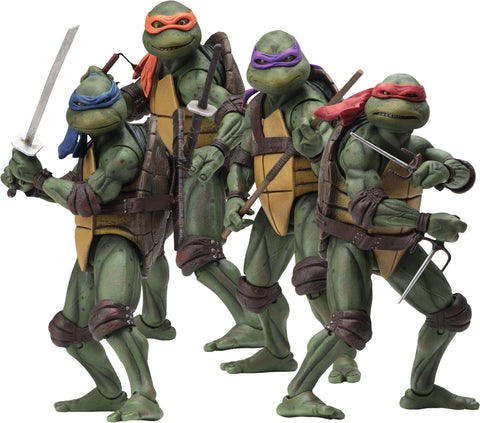 "(NECA) Teenage Mutant Ninja Turtles – 7"" Scale Action Figure – 1990 Movie Leonardo"