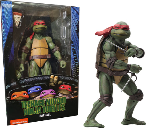 "(NECA) Teenage Mutant Ninja Turtles – 7"" Scale Action Figure – 1990 Movie Raphael"