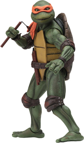 "(NECA) Teenage Mutant Ninja Turtles – 7"" Scale Action Figure – 1990 Movie Michelangelo"