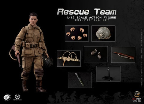 Image of (POPTOYS 1/12) (Pre-Order) WWII US Rescue Squad Paratrooper - Deposit Only