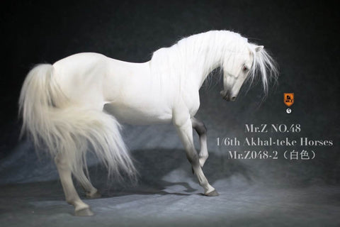 Image of (MR.Z) (PRE-ORDER) MRZ048-2H 1/6 48 AKHAL-TEKE HOURSES (ONLY HOURSES)(WHITE) - DEPOSIT ONLY