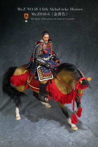 Image of (MR.Z) (PRE-ORDER) MRZ048-6H 1/6 48 AKHAL-TEKE HOURSES (ONLY HOURSES) (GOLDEN YELLOW) - DEPOSIT ONLY