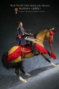 (MR.Z) (PRE-ORDER) MRZ048-6H 1/6 48 AKHAL-TEKE HOURSES (ONLY HOURSES) (GOLDEN YELLOW) - DEPOSIT ONLY