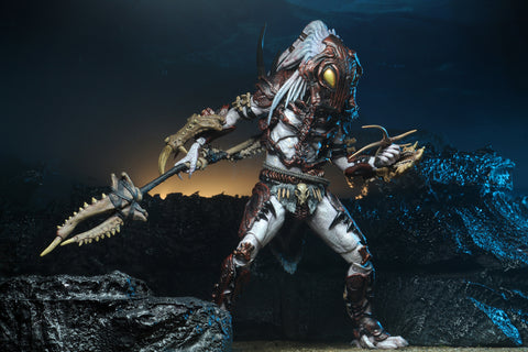 "(NECA) Predator - 7"" Scale Action Figure - Ultimate Alpha Predator 100th Edition Figure"