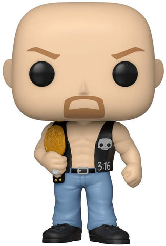 Image of (Funko Pop) Pop! WWE: Stone Cold Steve Austin (With Belt) with Free Boss Protector