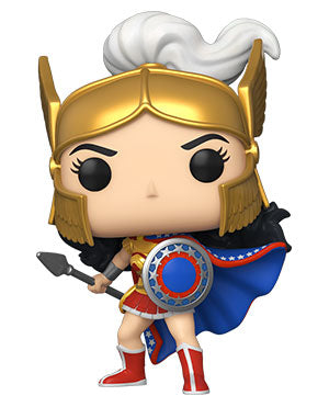 Image of (Funko) Pop! Heroes: Wonder Woman (80th Anniversary) - Wonder Woman (Challenge of the Gods) with Free Boss Protector