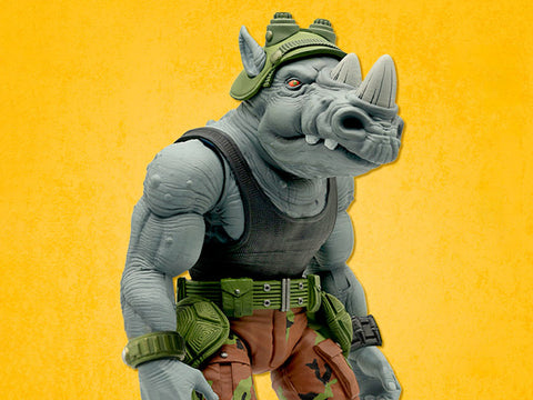 Image of (Super 7) (Pre - Order) Teenage Mutant Ninja Turtles Ultimates Rocksteady 7-Inch Action Figure - Deposit Only