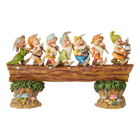 Image of (Enesco) Disney Traditions Seven Dwarves on Log Mater Piece