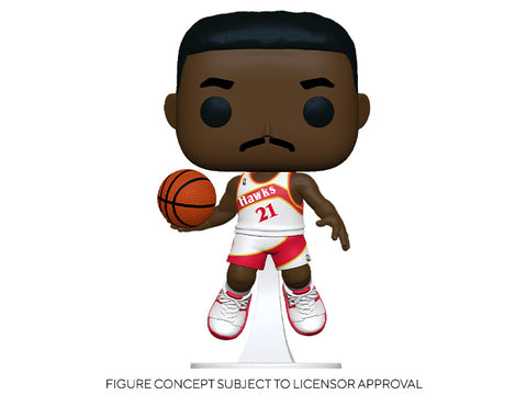 Image of (Funko Pop) Pop! NBA: Legends - Dominique Wilkins (Hawks Home) with Free Boss Protector