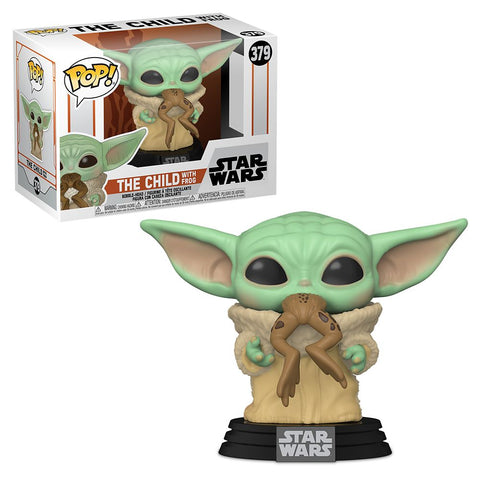 Image of (Funko Pop) POP STAR WARS: MANDALORIAN - THE CHILD WITH FROG