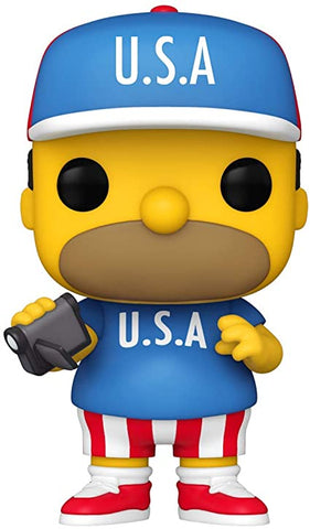 (Funko) Pop! Animation: The Simpsons - USA Homer with Free Boss Protector