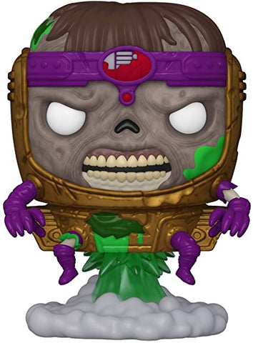 Image of (Funko Pop) Pop! Marvel: Marvel Zombies (Series 2) - M.O.D.O.K. - Red Hulk with Free Boss Protector