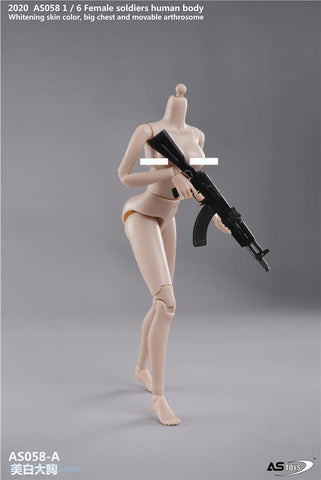 Image of (ASTOYS)  (PRE-ORDER) AS058-A 1/6 Female Soldiers Human Body Big Chest Pale - DEPOSIT ONLY