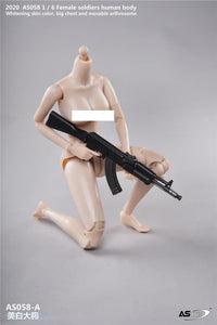 (ASTOYS)  (PRE-ORDER) AS058-A 1/6 Female Soldiers Human Body Big Chest Pale - DEPOSIT ONLY