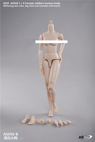 Image of (ASTOYS) (PRE-ORDER) AS058-B 1/6 FEMALE SOLDIERS HUMAN BODY BIG CHEST PALE - DEPOSIT ONLY
