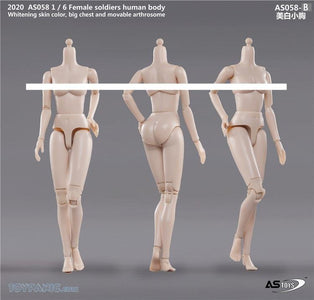(ASTOYS) (PRE-ORDER) AS058-B 1/6 FEMALE SOLDIERS HUMAN BODY BIG CHEST PALE - DEPOSIT ONLY