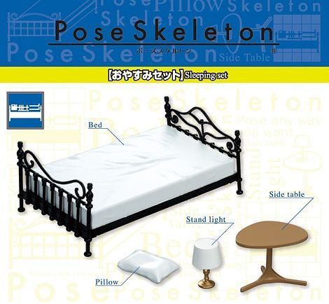 (RE-MENT) POSE SKELETON - SLEEPING SET