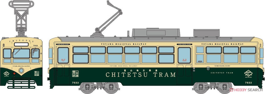 (TOMYTEC) (Pre-Order) Train Collection Toyama Chihou R, Tramway DE 7000 Car No. 7022 Retro Train - Deposit Only