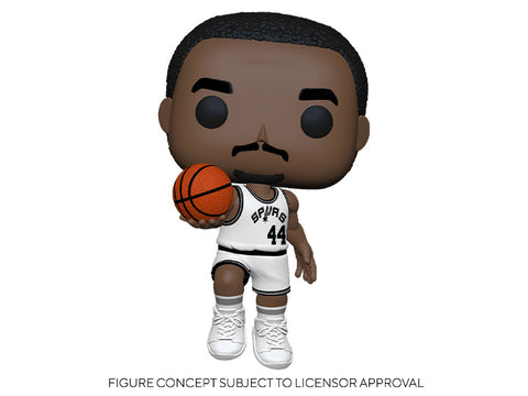 Image of (Funko Pop) Pop! NBA Legends - George Gervin (Spurs Home) with Free Boss Protector