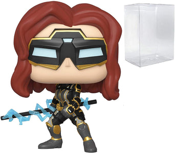 (Funko Pop) Pop Marvel Avengers Games Black Widow with Free Protector