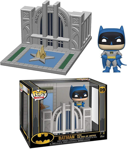 Image of (Funko Pop) Pop Towns Batman 80th Hall of Justice with Batman