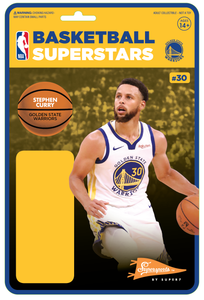 (SUPER7) (Pre-Orders) NBA REACTION FIGURE - STEPH CURRY Alternate (WARRIORS)