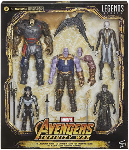 Image of (Hasbro) Marvel Legends Series Toys 6-Inch Collectible Action Figure 5-Pack The Children of Thanos (Amazon Exclusive)