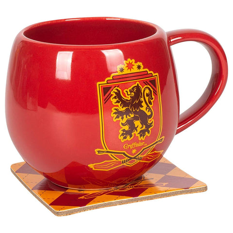 Image of (Enesco) OHRPT MUG WITH COASTER RED CREST