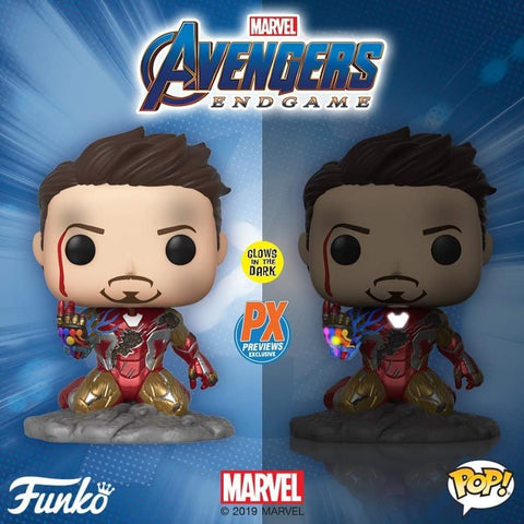 Image of (Funko Pop) I Am Iron Man Glow in the Dark PX Exclusive with Free BOSS Protector