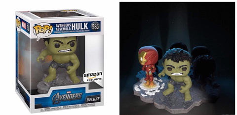(Funko Pop) (Pre-Order) Avengers Assemble Hulk Deluxe Amazon Exclusive - Deposit Only