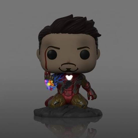 (Funko Pop) I Am Iron Man Glow in the Dark PX Exclusive with Free BOSS Protector