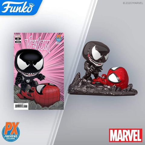 (Funko Pop) PX Exclusive Spider-Man vs Venom