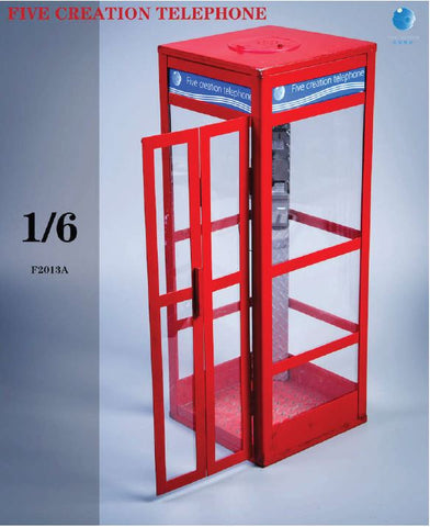 Image of (Five Toys) (Pre-Order) F2013 1/6 A Telephone Booth Scene Platform - Deposit Only
