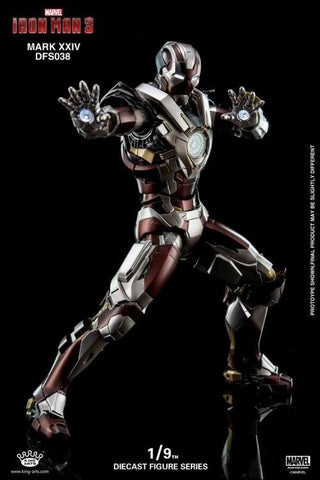 (King Arts) (Pre-Order) Iron Man Mark 24 - 1/9 Scale Diecast Figure DFS038 - Deposit Only