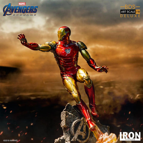 Image of (Iron Studios) Iron Man Mark LXXXV DELUXE BDS Art Scale 1/10 - Avengers Endgame - Deposit Only