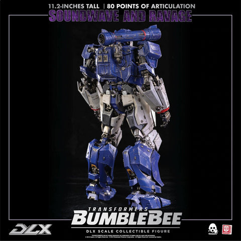 Image of (3A ThreeZero) (Pre-Order) DLX Soundwave and Ravage Bumblebee Movie ver. - Deposit Only - PO Price - P10,450