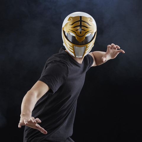 (Hasbro) Mighty Morphin Power Rangers White Ranger Premium Collector Full-Scale Helmet